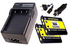 Ladegerät und 2 * Akku Batterie Accu im SET für Fuji Fujifilm FinePix XP50