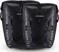 ROCKBROS Bike Pannier Waterproof Large Capacity Bike Bag Rear Rack Bag 2 Pieces