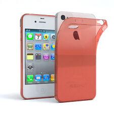 Ultra Slim Cover für Apple iPhone 4 / 4S TPU Case Silikon Hülle Orange