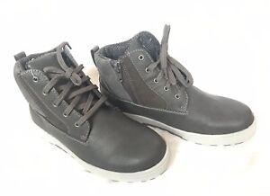 Eddie Bauer MARLON Boys Chukka Winter Boots Casual Grey Sz 5