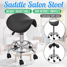 Salon Saddle Bar Stool Swivel Chair Massage Barber Hairdressing Hydraulic Lift