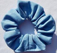 LIGHT BLUE DENIM SCRUNCHIE ELASTIC HAIR BAND BOBBLE LADIES GIRLS NEW