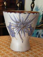 Vase en Céramique Vallauris Marie Madeleine Jolly 1914 1963 Chardons