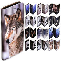 For HTC Series - Wolf Wolves Theme Print Wallet Mobile Phone Case Cover