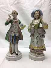 2 Vintage F-E-R-N Ceramic Figurines Lay & Man Hand Painted Japan