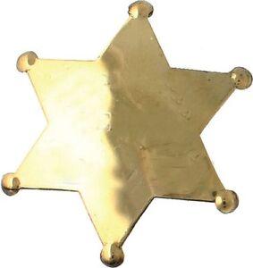 Sheriff Stern blank gravieren Sheriffstern Western Cowboy USA gravierbar