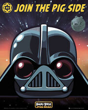 Angry Birds Star Wars Darth Vader Poster Official Evil Pigs 40 x 50cm New MP1502