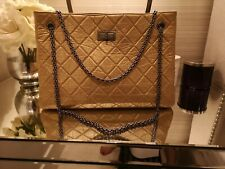 Chanel Reissue Shopping Tote Large Metalic Gold