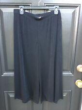 New Chico's Travelers Black Wide Leg Crop Pants Size 2 = L Large 12 14 NWT Capri