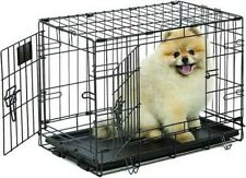 "MidWest Life Stages 20"" Double Door Folding Metal Dog Crate"
