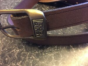 Levi's 501 Mens Leather Jeans Belt Brown sz 36/38