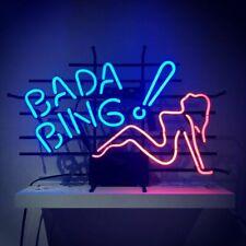 "New Style Bada Bing Girl Beer Neon Light Sign 24""x20"" Lamp Decor Glass Bar"