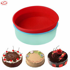 Large Round Silicone Cake Mold Pan Muffin Bread Pizza Pastry Baking Tray Mould