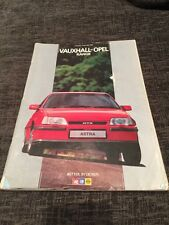 1985 Vauxhall Opel Nova Astra Cavalier Manta Carlton Senator Monza UK Brochure