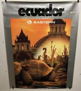 Original vintage travel Airline poster Ecuador Eastern Airlines 30x40