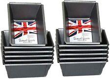 12 x Samuel Groves Mini Loaf Cake Tins Non Stick Mini Sponge Cake Loaf Tin Bake