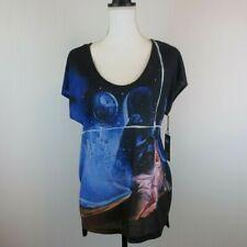 Rock & Republic Star Wars Princess Lea Luke Embellished Shirt MEDIUM Black Blue