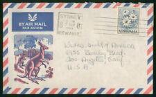 Mayfairstamps Australia 1963 Sydney Flannel Flower Knagaroos Cover wwo_52989