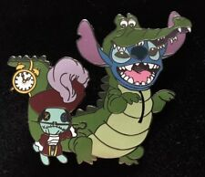 Disney Pin Stitch As Tick Tock Scrump As Captain Hook Fantasy LE 50 Flawed
