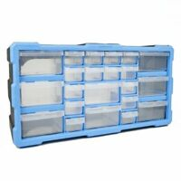 22 Drawers Cabinet Parts Organiser Wall Mounted Unit Tool DIY Nuts Bolts Storage