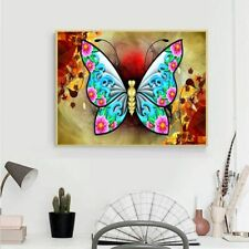 DIY 5D Full Drill Diamond Painting Butterfly Embroidery Cross Stitch Kit Crafts