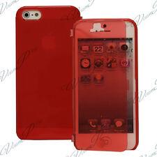 Accessoire Housse Coque Etui Portefeuille Livre ROUGE Apple iPhone 5/ 5S