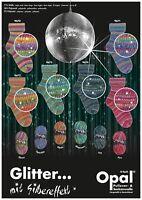 6 x 100 gr. Sockenwolle/Strumpfwolle Opal Glitter... mit Silbereffekt  Neuheit