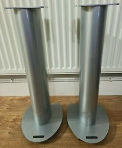 Soundstyle XT122 High Quality 58cm Tall Fixed Height Silver Speaker Stands