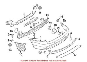 For BMW Genuine Reflector Panel Rear Left 63147848120