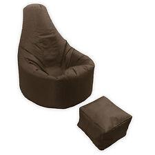 Large Bean Bag Footstool Gamer Beanbag Adult Outdoor Gaming Garden Big Arm Chair Brown