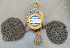 Harrington Hoists Cf015 20 Chain Hoist 20 Ft Lift 1 12 Ton E080352