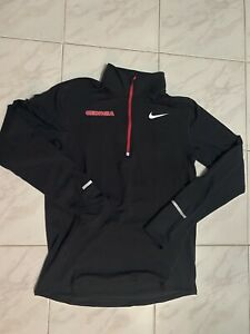 RARE Nike Georgia Bulldogs Team Issue Running Pullover Zip L/s Shirt Men's M