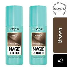 2 Pack L'Oreal Paris Magic Retouch Instant Root Concealer Spray Brown, 75ml