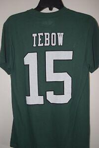 NEW York NFL NY JETS Mens Green Shirt Top Crewneck #6 or #15 Sanchez S XL 2XL