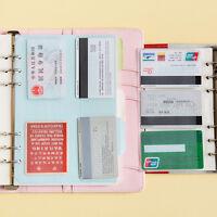 A5/A6 Transparent Zip Lock Envelope Binder Pocket Refill Organiser StationeDD
