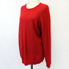 Macy's Charter Club 2-Ply 100% Cashmere Knit Warm Crew Neck Red Sweater 1X