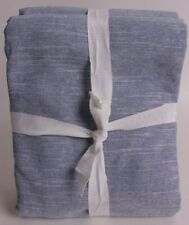 Pottery Barn Kids Evelyn Linen blackout drape curtain panel 44x63 chambray blue