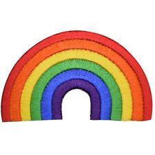 "Rainbow Applique Patch 2-5/8"" (Iron on)"