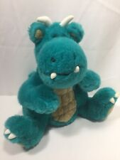 """Fat Dragons Dragon Plush 12"""" Teal Green Turquoise by Commonwealth"""