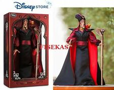 """Disney Store Villain Jafar Limited Edition 2500 Collector 17 """" Doll 2015 NEW"""