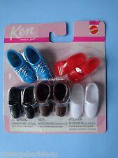 Mattel Barbie Doll Ken Allan Brad Shoe Shoes Lot NEW MINT in Package (5 pair)