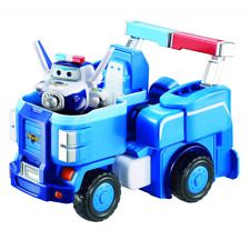 Super Wings - Police Cruiser | Toy Vehicle Set |, Includes Transform-a-Bot Paul