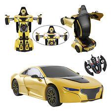 Telecomando auto RC 2.4g Trasformatore Radio trasforma Robot giocattolo per bambini