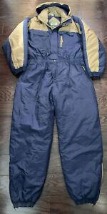 Vintage Ozark Trail Snow Snowmobile Suit Ski Suit Made in USA Mens Size XL Blue