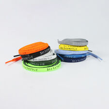 Katakana Japanese Flat Shoelaces - 10 colors - Multiple Lengths