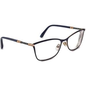 Jimmy Choo Women's Eyeglasses 134 J6S Navy Blue B-Shape Frame Italy 53[]17 135