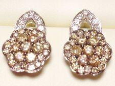 $3,900 LeVian 1.22 ct TW Chocolate & White Diamonds 14K WGold Earrings (66% OFF)
