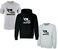 I Love Dogs Funny Tee Shirt Sweatshirt Hoodie Joke Funny gift Unisex Dog Lovers