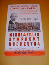 Dimitri Mitropoulos 1944-1945 Cbs Columbia Records Poster Minneapolis Symphony