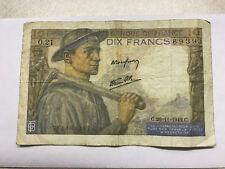 1942 Banque De France 10 Francs Circ. #6485